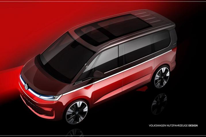 az új Multivan vázlatait